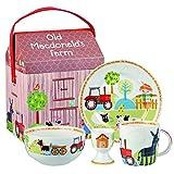 Churchill China Little Rhymes - Juego para desayuno (4 piezas), diseño de Old MacDonald's Farm,...