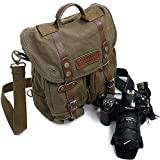 tela forte zaino borsa custodia fotografico viaggio impermeabile per camera videocamera lenti flash trigger ecc, molto portatile bello e alta qualità (Marrone Scuro)