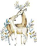 PAINTYTY Baiser Peinture De Cerfs par Numéros De Mur Art Art Image Animale pour Le Salon Pas Cher Loving Image Illustration Coloriage Affiche par Numéros