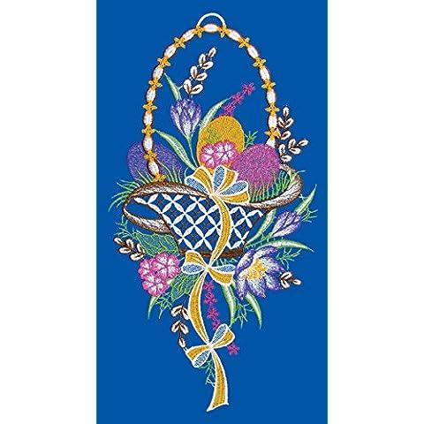 Spitze Plauner 20 x 39 cm de Navidad de encaje cesta de Pascua Window picture/cairel