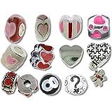 Timeline Trinketts encanto pulsera Pandora cuentas para joyería de esmalte de imitación - gracioso corazones