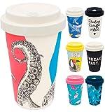 holi. Coffee-to-Go Bambus-Becher mit Schraubdeckel, Verschluss-Möglichkeit | Woodcup Kaffeebecher | Mehrweg-Becher Bamboo-Cup | lebensmittelecht, spülmaschinenfest (Herr Simon Ster)