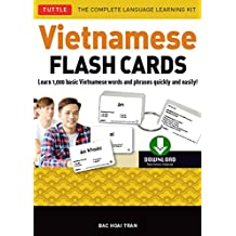Vietnamese Flash Cards Ebook: The Complete Language Learning Kit (200 digital flash cards, 32-page Study Guide, free download or stream native-speaker audio recordings)