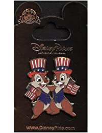 Disney Pin #61626: Patriotic Chip 'n' Dale - Flags and Hats