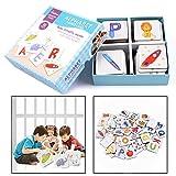 OFKPO Vorschule Lernen Alphabet Karte Spielzeug,Neue Serie 52 Stück Karton Alphabet Twin Card Für Kinder 4 Jahre Alt