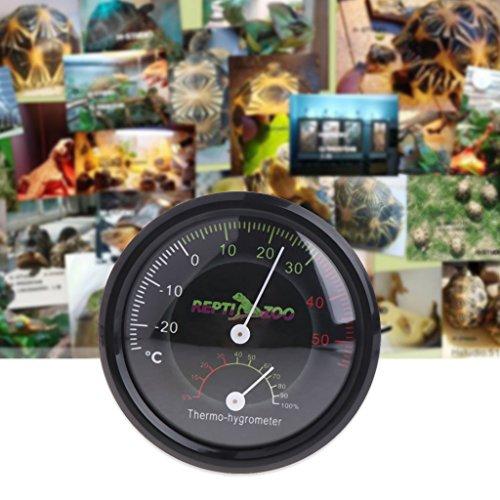 Cuigu Dial Thermometer, Reptil Schildkröte Terrarium Thermometer Thermo-Hygrometer Feuchtigkeitsmesser