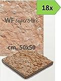 Pavimento in pietra 50x50 rustico - 18 pezzi - mattonella piastrella giardino