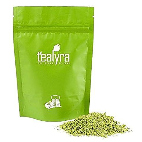 Tealyra - Izu Matcha Thé Vert Japonais en Poudre - Biologique - Qualité Supérieure - Fait au Izu, Tokyo - Meilleure Boisson Santé - Source D'Antioxydants - 100g