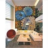 Lovemq 3D Papier Peint De Chambre Haut De Gamme Personnalisé Mural Non-Tissé Sticker Mural Grande Couleur Soleil Fleur Hd Photo Canapé Tv Fond Mur Papier Peint-290X230Cm