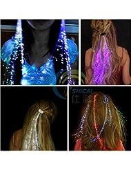 Vale® La luz del flash LED que emite la mariposa del pelo del clip de la trenza de fibra de pelo Spit Spit luz peluca de pelo Prom KTV accesorios del pelo del tocado