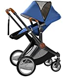 Fashion SUV Baby Carriage, Pushchair, 2 in 1 Baby Stroller, Super Suspension, Big Wheels, Highview, Bidirectional, Can Sit & Lie (BLUE) immagine