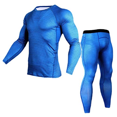 VITryst Men Quick Drying Athletic Compression Thermal Underwear Set Blue S - Juicy Couture Velour