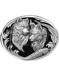 Buckle mit zwei Wölfen - Wolf - Wölfe - Gürtelschnalle