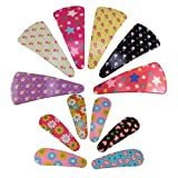 #8: Saamarth Impex Metal Clip Snap Hair Clips Tik tak Barrettes Good Quality For Kids,Girls,Women Set Of 12SI-6251