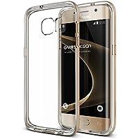 "VRS Design ""Crystal Bumper"" Coque fine pour Samsung Galaxy S7edge–Rose Gold-parent, Silicone, Shine Gold, Galaxy S7 Edge"