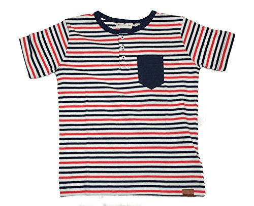 Tom Tailor Kids Jungen T-Shirt gestreift mit einer Brusttasche Blau real navy blue (6593) yarn dyed striped tee 10309644082 Gr. / 507 (104/110) (Dyed Striped Yarn Shirt)