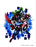 The Avengers - Super-Eroi, Captain America, Falcon, Hawkeye, Iron Man, Black Widow, Hulk, Thor, Loki Sticker Adesivo Da Parete (85 x 65cm)