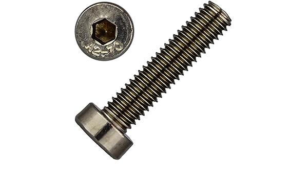4 St/ück Zylinderkopf Schrauben   Zylinderschrauben DERING Zylinderschrauben M2x5 mit Innensechskant DIN 912 Edelstahl A2 rostfrei