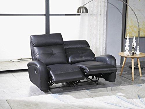 Voll-Leder Fernsehsofa Relaxsofa 2-Sitzer 5130-2-S