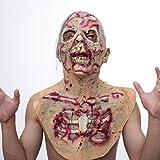 Walking Dead Full Mask, Resident Evil Monster Mask, Zombie Costume Party Gomma maschera in lattice per Halloween