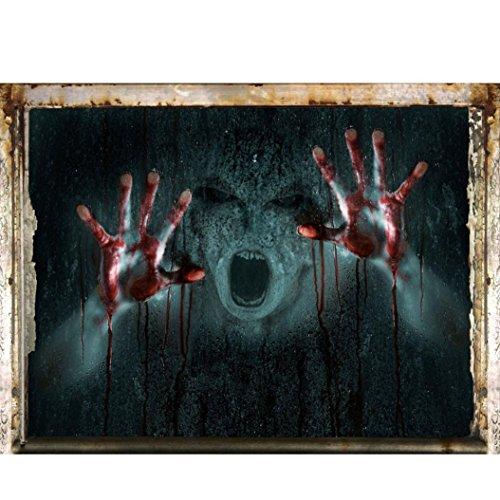 mmer Wandaufkleber OHQ Happy Halloween Hause Haushalt Wandbild Decor Aufkleber (B) ()