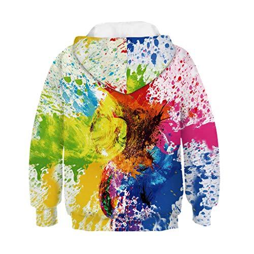 Jungen Mädchen Hoodie feiXIANG Kleinkind Sweatshirt Kapuzenpullover 3D Drucken Pullover Tops Langarmshirt (Multicolor,8-11 Jahre)