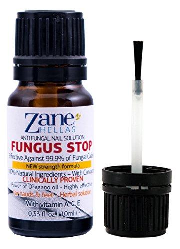 ZANE HELLAS FUNGUS STOP.Uccidi il 99,9% di fungo del chiodo. Anti fungine delle unghie Trattamento. Le unghie dei piedi e unghie Trattamento. 10 ml - 0,33 oz