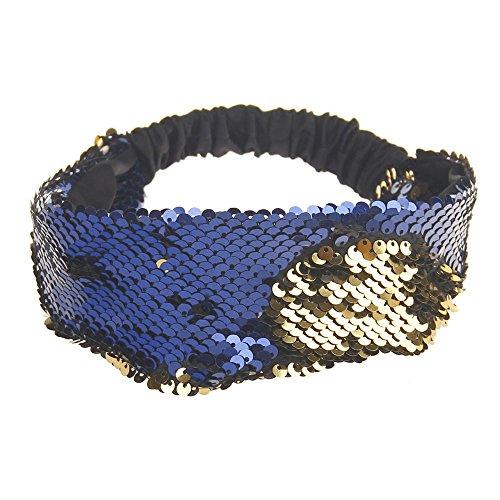 Dorical Haarband, Damen Bling Shining Haarband mit Pailletten Elastic Sports Yoga Stirnband Haarband Kopfbedeckung für Frauen Lady Mädchen Kopfschmuck, Stirnband, Pailletten, elastisch(B)