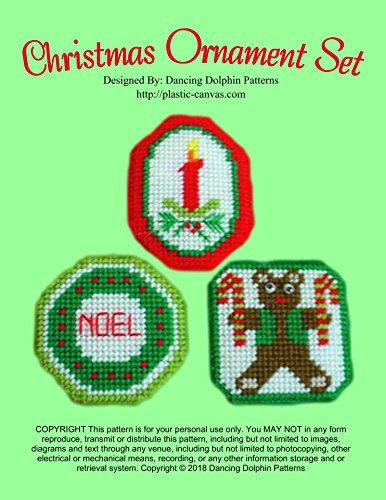 Christmas Ornament Set: Plastic Canvas Pattern (English Edition) -
