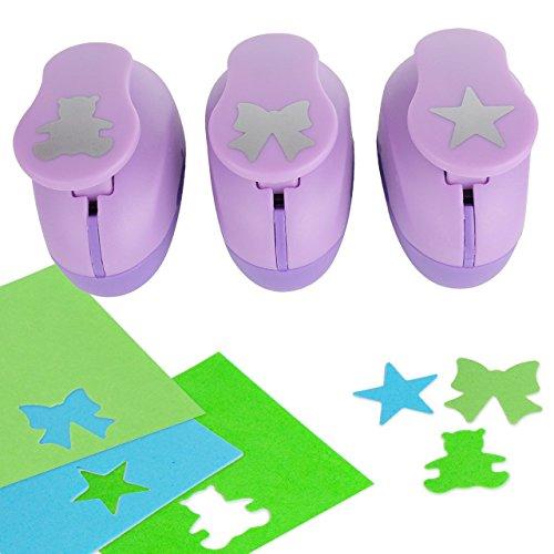 YazyCraft - Juego de 3 perforadores de papel
