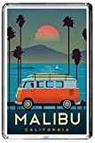 B438 MALIBU CALIFORNIA USA AIMANT POUR LE FRIGO USA VINTAGE TRAVEL PHOTO REFRIGERATOR MAGNET