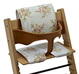 Messy Me Coussins, Chaise Haute, pour Stokke Tripp Trapp - Imperméable, Facile à nettoyer (Cru Floral)