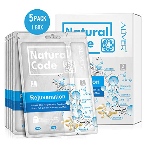 5 Pack Face Mask Hydration Anti-Aging Best Facial Treatment Deep  Moisturizing Mask, Reduces the Appearances of Puffiness, Tired Looking and  Wrinkles,