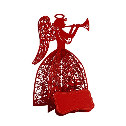 4 X Neue Toner (logres 3D Pop-Up-Karte Grußkarte Weihnachten Geburtstag Valentinstag Jahrestag Einladung, rot, 6.69