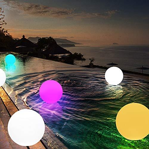 Jardin Extérieur Coloré Boule Rougeoyante Lumières Mit Patio Paysage Voie LED Boule Lumineuse Tischleuchten À Gazon (Couleur d'émission : RGB-Diameter 20cm) -