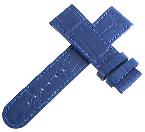 Authentic dibur blau Alligator geprägtes Leder Uhrenarmband 22mm x 20mm