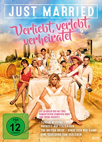 Just Married - Verliebt, verlobt, verheiratet (3 DVDs im Sammelschuber) Hochzeitsfilme
