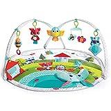 Tiny Love DYNAMIC GYMINI Meadow Days - Manta de juegos dinámica para bebé, con 12 actividades para el desarrollo, equipado con juguetes eletrónicos y música, desde el nacimiento, 100x90x 45 cm, multicolor