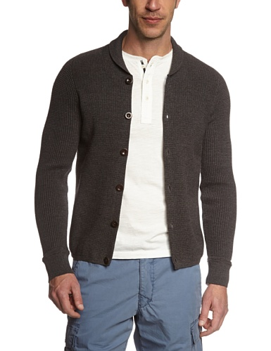 Marc O'Polo Herren Strickjacke 427501661310, Gr. Large, Grau (dark shadow 974) -