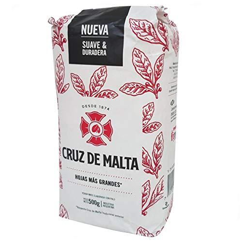 Yerba mate Cruz De Malta , con palos. Popular en argentina