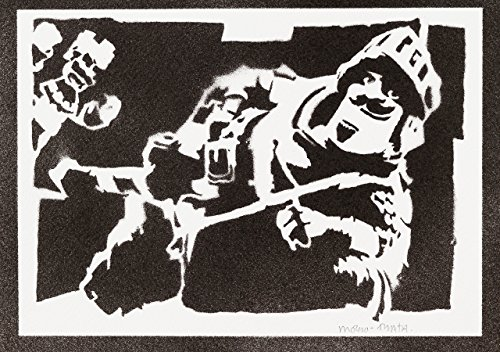 Póster Príncipe Clash Royale Grafiti Hecho A Mano - Handmade Street Art - Artwork
