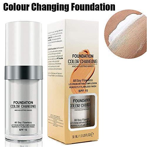 Concealer Cover, 30ml Concealer -Abdeckung Flawless Farbwechsel Warmer Hautton Foundation Makeup Liquid Concealer