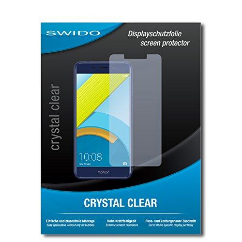 SWIDO Schutzfolie für Huawei Honor 6C Pro [2 Stück] Kristall-Klar, Hoher Härtegrad, Schutz vor Öl, Staub und Kratzer/Glasfolie, Displayschutz, Displayschutzfolie, Panzerglas-Folie