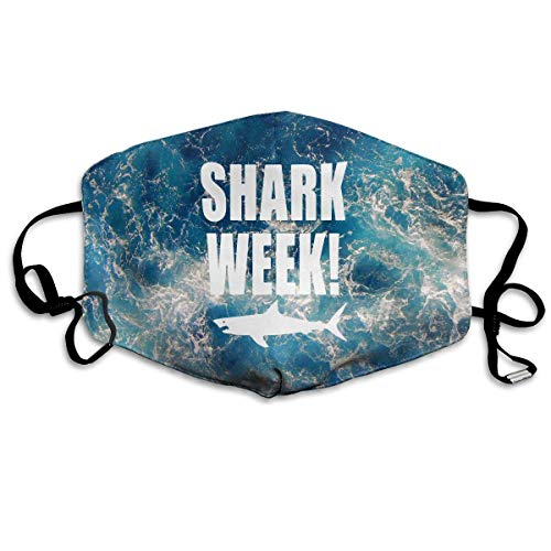 Shark Week Mouth Mask Dust Gesichtsmaske Washed Reusable Outdoor Activities Windproof
