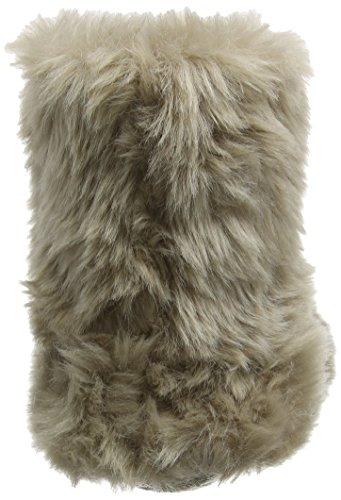 Eaze Fur Bootie Slipper, Chaussons Femme Gris - Gris/vison