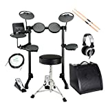 Yamaha DTX400K Compact E-Drum Set (Kompaktes E-Drum Set, Drum Trigger Modul mit 169 Sounds, 10 interaktive Trainingsfunktionen, 10