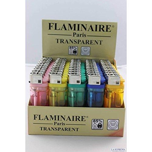 Flaminaire Paris Accendino Trasparente - Box da 50 Accendini