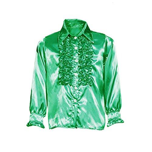 Kostüme Und 70 80 (70er 80er 1970s 1980s Disco Rueschenhemd Kostuem Glanz Schlager Hemd Party Retro Herrenhemd Herren)