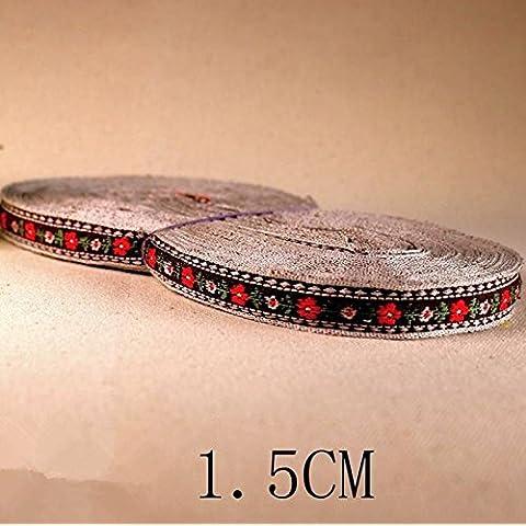 GAOHL Fiore vintage ricamato nastro/vetrina costume accessori fatti a mano gioielli panno casa fai da te accessori , 4 ,