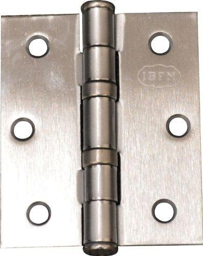 Piana charnière pour porte papier acier chrome satiné 76x76 mm conf. 2 Pcs